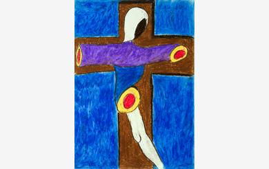 Hurra, Jesus hängt und ist schön abgehackt