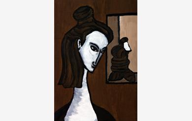 Frau mit Figur