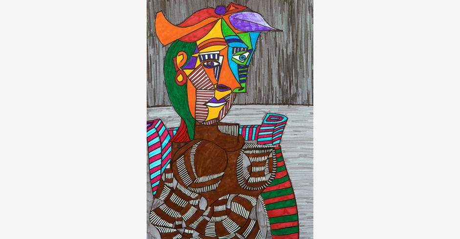 Verdrehte Figur (nach Picasso)
